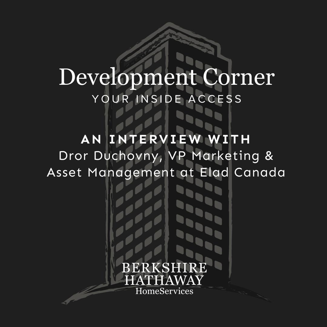 Development Corner – Elad Canada